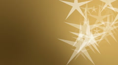 Elegant Christmas gold background with flowing stars **** More CHRISTMAS foot Stock Footage
