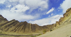 Panoramic shot from the road to the valley of Lamayuru in Tibet Stock Footage