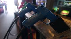 Arcade Video Game Gun Stock Footage