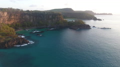 Brazilian Cliffs Coastline at Sunrise Stock Footage