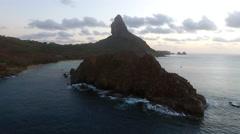 Brazilian Island at Dusk Stock Footage