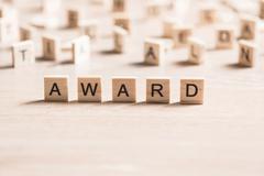 Award word Stock Photos