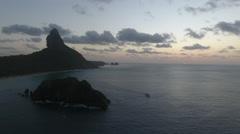 Brazilian Island Sunset and Dusk Stock Footage