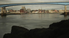 Time Lapse of Saint John New Brunswick City Skyline and Harbour. Stock Footage