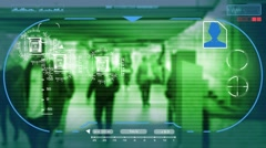 Underground - Technology - digital interface - graphics - green - HD Stock Footage