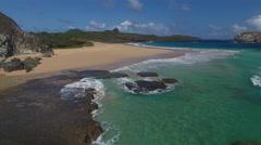 Exotic Brazilian Beach With Crashing Waves Stock Footage