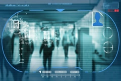 Underground - Technology - digital interface - graphics - blue Stock Footage