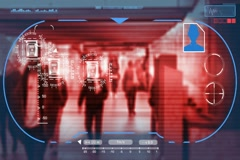 Underground - Technology - digital interface - graphics - red Stock Footage