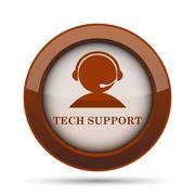 Tech support icon. Internet button on white background. . Stock Illustration