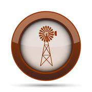 Classic windmill icon. Internet button on white background. . Stock Illustration