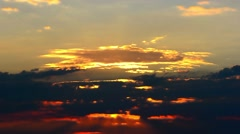 Time Lapse of Burning Sky at Sunset Afterglow Stock Footage