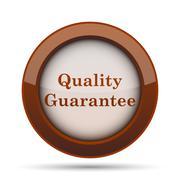 Quality guarantee icon. Internet button on white background. . Stock Illustration