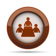 Meeting room icon. Internet button on white background. . Stock Illustration