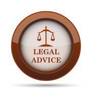 Legal advice icon. Internet button on white background. . Stock Illustration