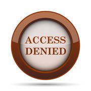 Access denied icon. Internet button on white background. . Stock Illustration