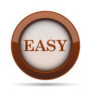 Easy icon. Internet button on white background. . Piirros