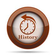 History icon. Internet button on white background. . Stock Illustration