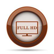 Full HD icon. Internet button on white background. . Stock Illustration