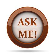 Ask me icon. Internet button on white background. . Stock Illustration