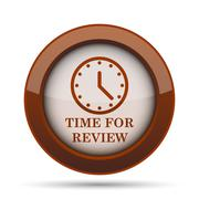 Time for review icon. Internet button on white background. . Stock Illustration