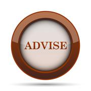 Advise icon. Internet button on white background. . Stock Illustration