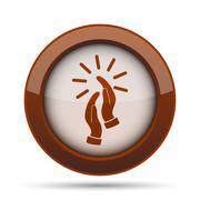 Applause icon. Internet button on white background. . Stock Illustration