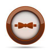 Bow tie icon. Internet button on white background. . Stock Illustration