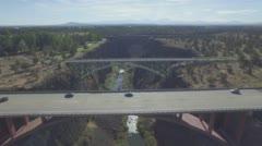 Redmond, Oregon Aerial Footage of Bridges (RAW) Stock Footage