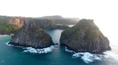 Gigantic Rocky Brazilian Islands at Sunrise Stock Footage