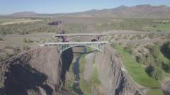 Redmond, Oregon Aerial Footage of Bridges 2 (RAW) Stock Footage