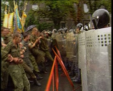 Fights with police Stock Footage