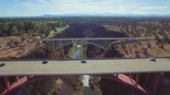 Redmond, Oregon Aerial Footage of Bridges. Stock Footage