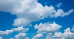 Cumulus clouds flying  against the blue sky Stock Footage