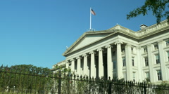 US Department of the Treasuary Building Stock Footage