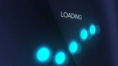 Computer Screen Close Up Loading Interface - Side Angle Stock Footage