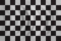 Checkered racing flag wavy detailed fabric texture Stock Photos