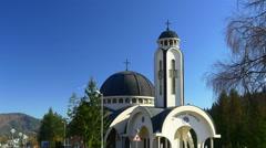 Hram Sv. Vissarion Smolenski Church, Smolyan Architecture Balkans Eastern Europe Stock Footage