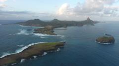 Towards Breathtaking Brazilian Island Vista Stock Footage