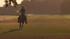Woman horseback riding in super slow motion, shot on the Phantom Flex 4K at Stock Footage