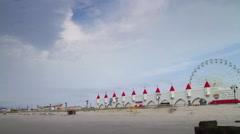 Boardwalk in Ocean City, New Jeresey Stock Footage