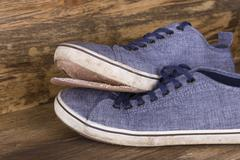 Ragged shoes Stock Photos