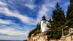 Bass Harbor lighthouse time lapse Stock Footage
