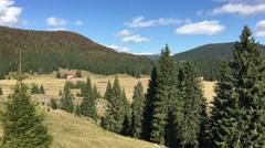 Landscape view around Apuseni Natural Park Stock Footage