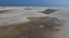 Hikers Lost in Sand Dune Desert 005 Stock Footage