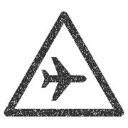 Airplane Warning Icon Rubber Stamp Piirros