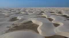 Lost Hiker in Endless Sand Dune Desert 002 Stock Footage