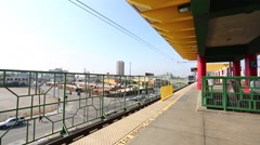 Los Angeles Chinatown Metro Rail Line Downtown Stock Footage