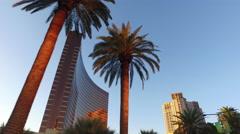 Las Vegas, Nevada, USA - April 20, 2016: Driving down the Las Vegas Strip, Wynn Stock Footage