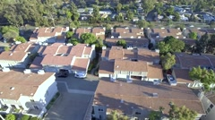 Aerial View of community homes Stock Footage