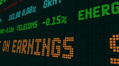 Stock market ticker stocks decline Stock Footage